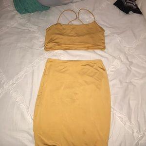 Yellow Two piece set